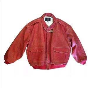 Vintage SCHOTT NYC A-2 Red Leather Jacket 6XL